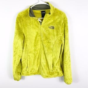 the north face 1/4 zip yellow monkey fleece